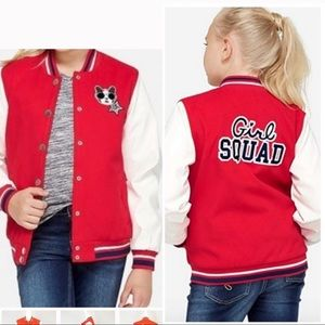 Justice Girl Squad Red Bomber Jacket